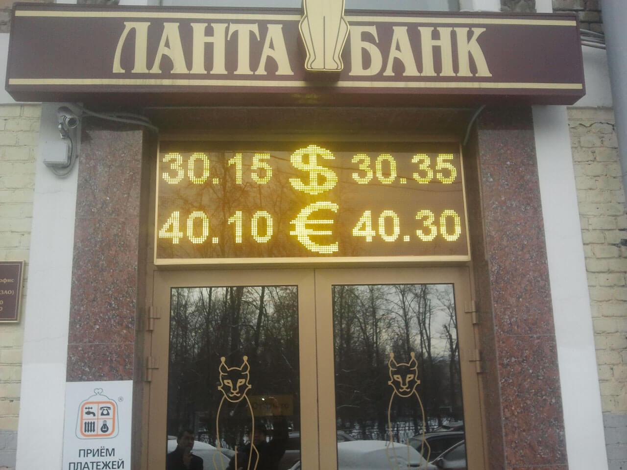 табло курса валют