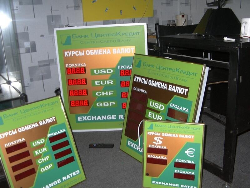 табло валют электронное